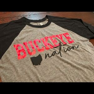 The Ohio State Buckeye Nation Baseball Tee